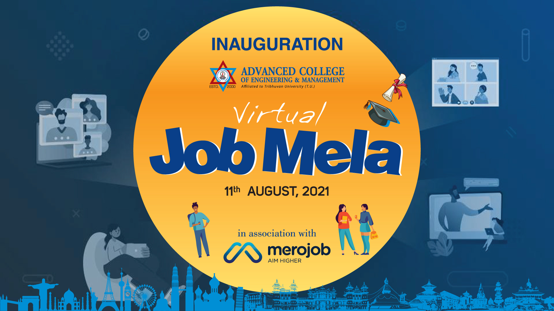 Advanced Engineering College Organized a Virtual Job Mela: an Online Fair for Job Placement and Skill Development